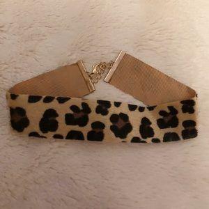 Cheetah print choker